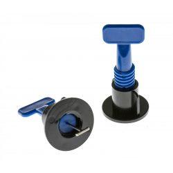 TLS-PROPELLER - 100 db  újrafelhasználható lapszintező talp + 2 db kulcs kék