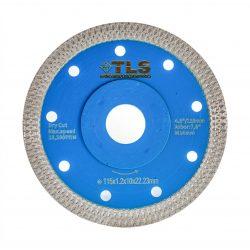 TLS X-PRO TURBO ultravékony gyémánttárcsa száraz vágáshoz D115x1.2x10x22.23 mm kék