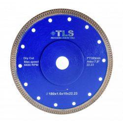 TLS X-PRO TURBO ultravékony gyémánt vágókorong d180x22,23x1,6x10 mm