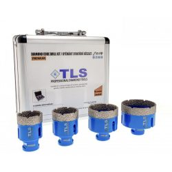 TLS-PRO 4 db-os 27-35-55-68 mm - ajándék fúrógép adapterrel  - lyukfúró készlet - alumínium koffer