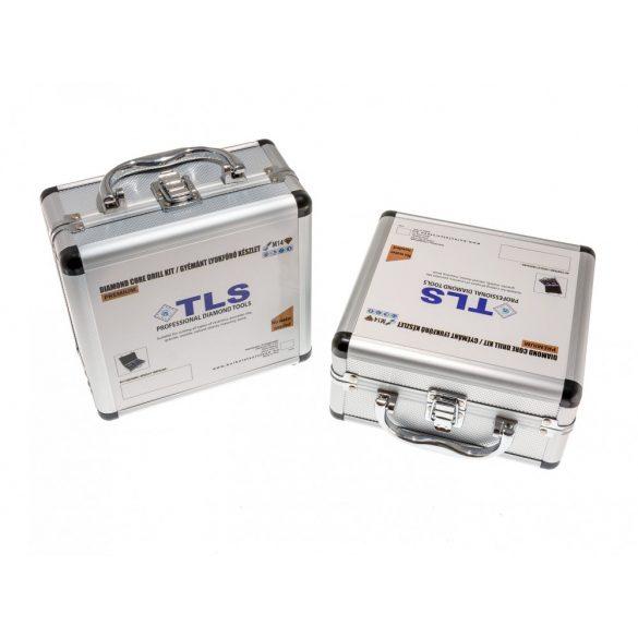 TLS-PRO 4 db-os 38-40-55-68 mm - lyukfúró készlet - alumínium koffer fehér