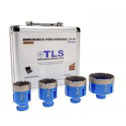 TLS-PRO 4 db-os 40-45-55-68 mm  - ajándék fúrógép adapterrel  - lyukfúró készlet - alumínium koffer