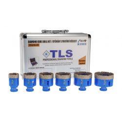 TLS-PRO 6 db-os lyukfúró készlet 30-35-40-45-50-60 mm - ajándék fúrógép adapterrel - alumínium koffer