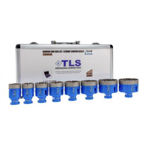 TLS-PRO 8 db-os 20-25-30-38-40-45-50-68 mm - lyukfúró készlet - alumínium koffer