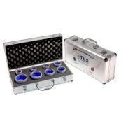 TLS-PRO 8 db-os 20-25-30-35-40-45-50-68 mm - lyukfúró készlet - alumínium koffer