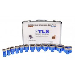 TLS-PRO 12 db-os lyukfúró készlet 20-22-27-32-40-45-50-55-60-65-68-70 mm - alumínium koffer fehér