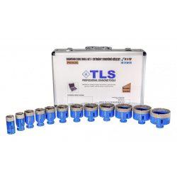 TLS-PRO 12 db-os 20-22-27-32-40-45-50-55-60-65-68-70 mm - lyukfúró készlet - alumínium koffer