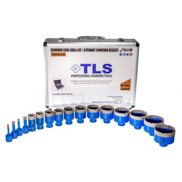 TLS-PRO 16 db-os 6-10-12-14-20-22-27-32-40-45-50-55-60-65-68-70 mm - lyukfúró készlet - alumínium koffer fehér