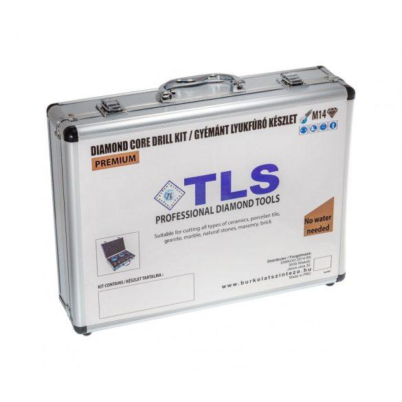 TLS-PRO 16 db-os 6-10-12-14-20-22-27-32-40-45-50-55-60-65-68-70 mm - lyukfúró készlet - alumínium koffer