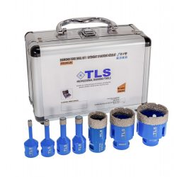 TLS-PRO 7 db-os 6-12-14-16-27-35-43 mm - lyukfúró készlet - alumínium koffer