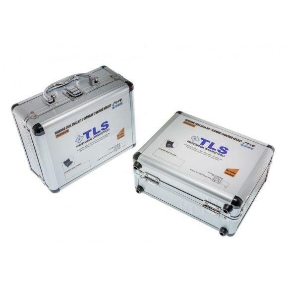 TLS 10 db-os 5-6-8-10-12-14-16-27-32-51 mm - lyukfúró készlet - alumínium koffer fekete
