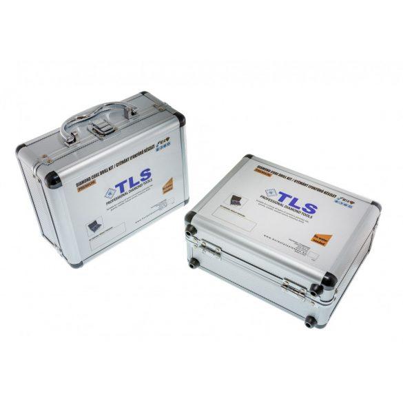 TLS 10 db-os 5-6-8-10-12-14-16-20-35-40 mm - lyukfúró készlet - alumínium koffer fekete