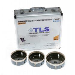 TLS-COBRA 3 db-os 70-100-110 mm - lyukfúró készlet - alumínium koffer fekete
