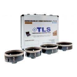 TLS-COBRA 4 db-os 80-90-100-110 mm - lyukfúró készlet - alumínium koffer fekete