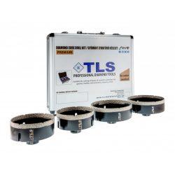 TLS-COBRA 4 db-os 80-100-110-125 mm - lyukfúró készlet - alumínium koffer fekete