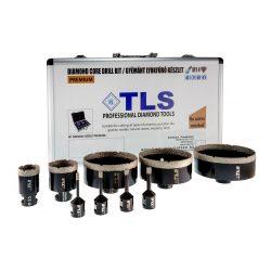 TLS-COBRA 9 db-os 6-8-10-12-20-38-70-100-115 mm - lyukfúró készlet - alumínium koffer fekete
