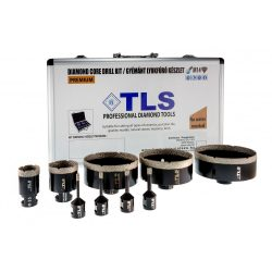 TLS-COBRA 9 db-os 6-8-10-12-38-51-90-100-115 mm - lyukfúró készlet - alumínium koffer fekete