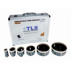 TLS-COBRA 6 db-os 27-45-55-68-100-110 mm - lyukfúró készlet - alumínium koffer fekete