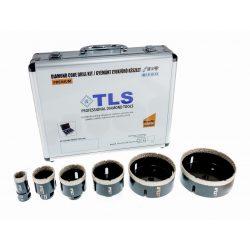 TLS-COBRA 6 db-os 27-38-43-51-67-100 mm - lyukfúró készlet - alumínium koffer fekete