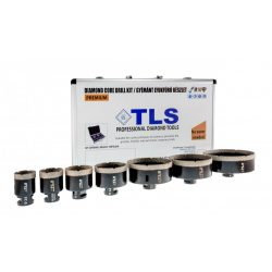 TLS-COBRA 7 db-os 27-38-43-51-67-75-125 mm - lyukfúró készlet  - alumínium koffer fekete