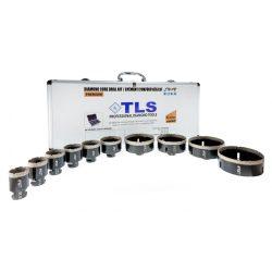 TLS-COBRA 10 db-os 20-27-40-50-55-67-70-80-100-125 mm - lyukfúró készlet - alumínium koffer fekete