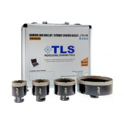 TLS-COBRA 4 db-os 43-51-67-110 mm - lyukfúró készlet - alumínium koffer fekete