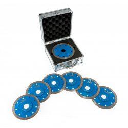 TLS X-PRO 6 db d115 mm vágókorong - alumínium koffer