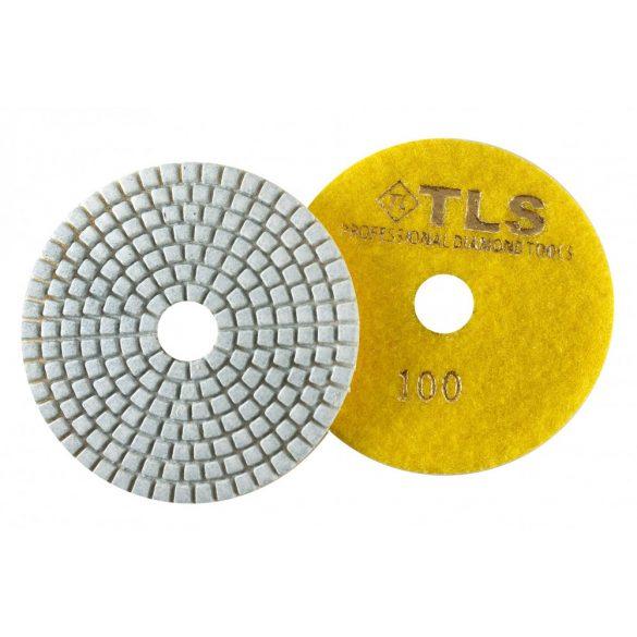 TLS SPIDER10-P100-d100 mm-gyémánt csiszolókorong-polírozó korong-vizes