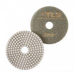 TLS SPIDER10-P3000-d100 mm-gyémánt csiszolókorong-polírozó korong-vizes