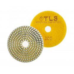 TLS SPIDER10-P200-d125 mm-gyémánt csiszolókorong-polírozó korong-vizes
