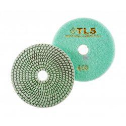TLS SPIDER10-P400-d125 mm-gyémánt csiszolókorong-polírozó korong-vizes