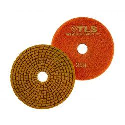 TLS SPIDER PRO10-P200-d125 mm-gyémánt csiszolókorong-polírozó korong-vizes