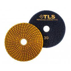 TLS SPIDER PRO10-P30-d125 mm-gyémánt csiszolókorong-polírozó korong-vizes