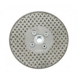 TLS ELECTROPLATED DISC gyémánttárcsa száraz gérvágáshoz és csiszoláshoz 2 oldalas  M14 x D125 mm