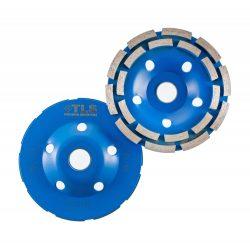 TLS DOUBLE ROW betonmaró gyémánttárcsa dupla soros D125x22,23 mm kék