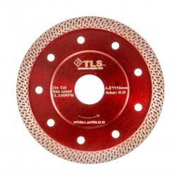 TLS K-PRO ultravékony gyémánt vágókorong d115x22,23x1,2x10 mm