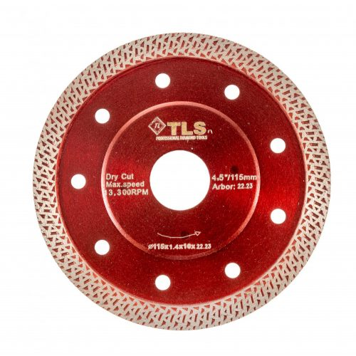 TLS K-PRO TURBO vékony gyémánt vágókorong d115x22,23x1,2x10 mm