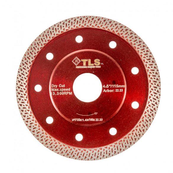 TLS K-PRO TURBO vékony gyémánt vágókorong d115x22,23x1,4x10 mm