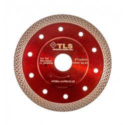 TLS K-PRO TURBO GRES vékony gyémánttárcsa száraz vágáshoz D125x1.4x10x22.23 mm bordó