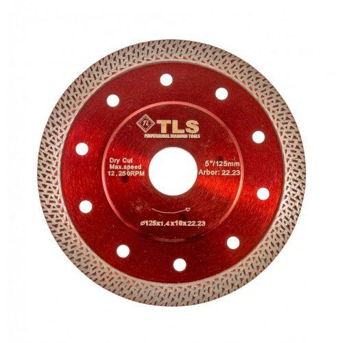 TLS K-PRO ultravékony gyémánt vágókorong d125x22,23x1,2x10 mm