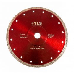 TLS K-PRO ultravékony gyémánt vágókorong d230x22,23x1,8x10 mm