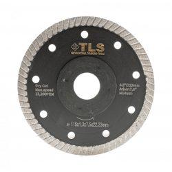 TLS DYNAMITE TURBO vékony gyémánttárcsa száraz vágáshoz D115x1.2x8x22.23 mm fekete gránithoz