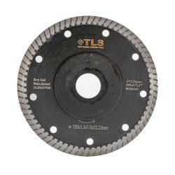 TLS DYNAMITE TURBO vékony gyémánttárcsa száraz vágáshoz D125x1.4x8x22.23 mm fekete gránithoz