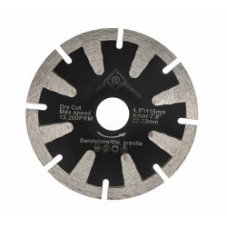 TLS T-SHAPE CONCAVE íves gyémánttárcsa száraz vágáshoz D115x2.6x10x22.23 mm fekete gránithoz