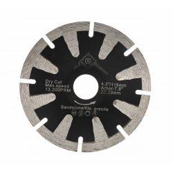 TLS T-SHAPE CONCAVE íves gyémánttárcsa száraz vágáshoz D125x2.6x10x22.23 mm fekete gránithoz