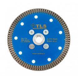 TLS X-PRO TURBO M14 ultravékony gyémánttárcsa száraz vágáshoz D115x1.2x10xM14 mm kék