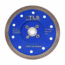TLS X-PRO M14 ultravékony gyémánt vágókorong d125x1,2x10 mm