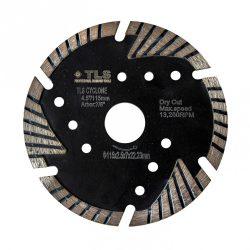 TLS CYCLONE TURBO gyémánt vágókorong d115x22,23x2,4x8 mm