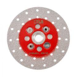 TLS VACUUM gyémánt vágó- és csiszolótárcsa 2 oldalas M14x100 mm - finom szemcseméret piros