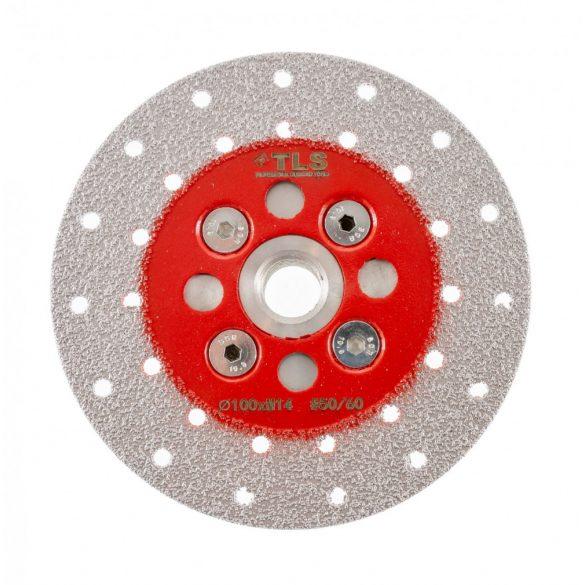 TLS VACUUM gyémánt csiszolótárcsa 2 oldalas M14x100 mm - finom szemcseméret